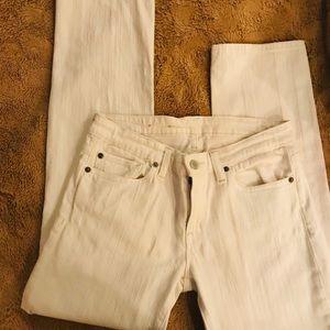 Denim & Supply White Skinny Jeans Sz 28. NWOT.